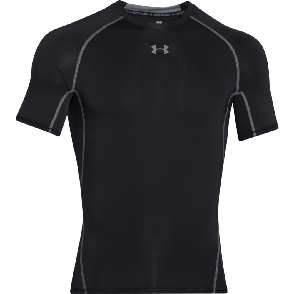 UNDER ARMOUR Men's HeatGear® Armour Short Sleeve Shirt - BLACK/STEEL-001