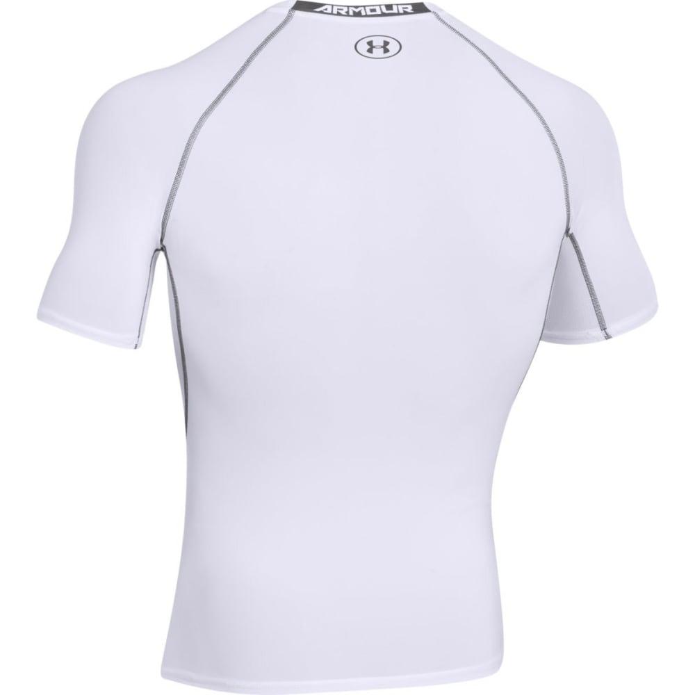 UNDER ARMOUR Men's HeatGear?? Armour Short Sleeve Shirt - WHITE-100