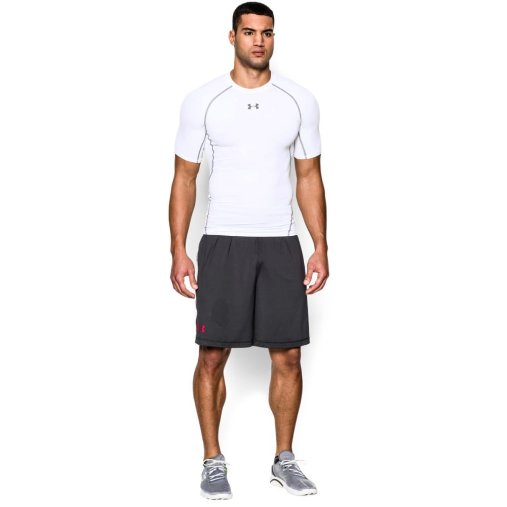 UNDER ARMOUR Men's HeatGear® Armour Short Sleeve Shirt - WHITE-100