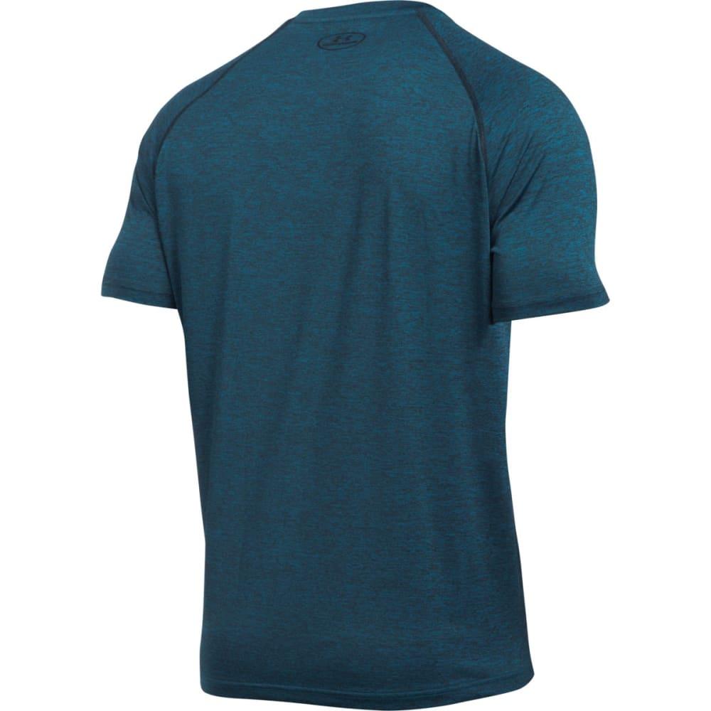 UNDER ARMOUR Men's Short Sleeve Tech Tee - PEACOCK/BLACK-781
