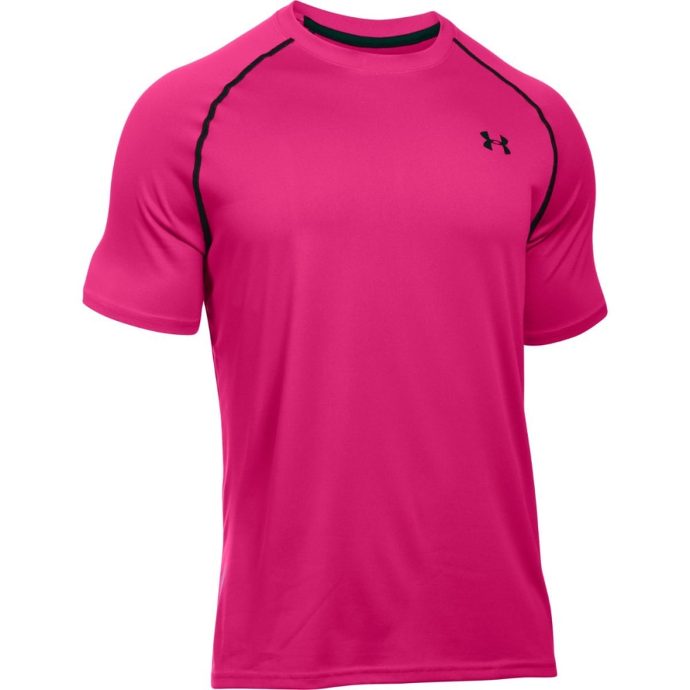 UNDER ARMOUR Men's Short Sleeve Tech Tee - TROPIC PINK-654