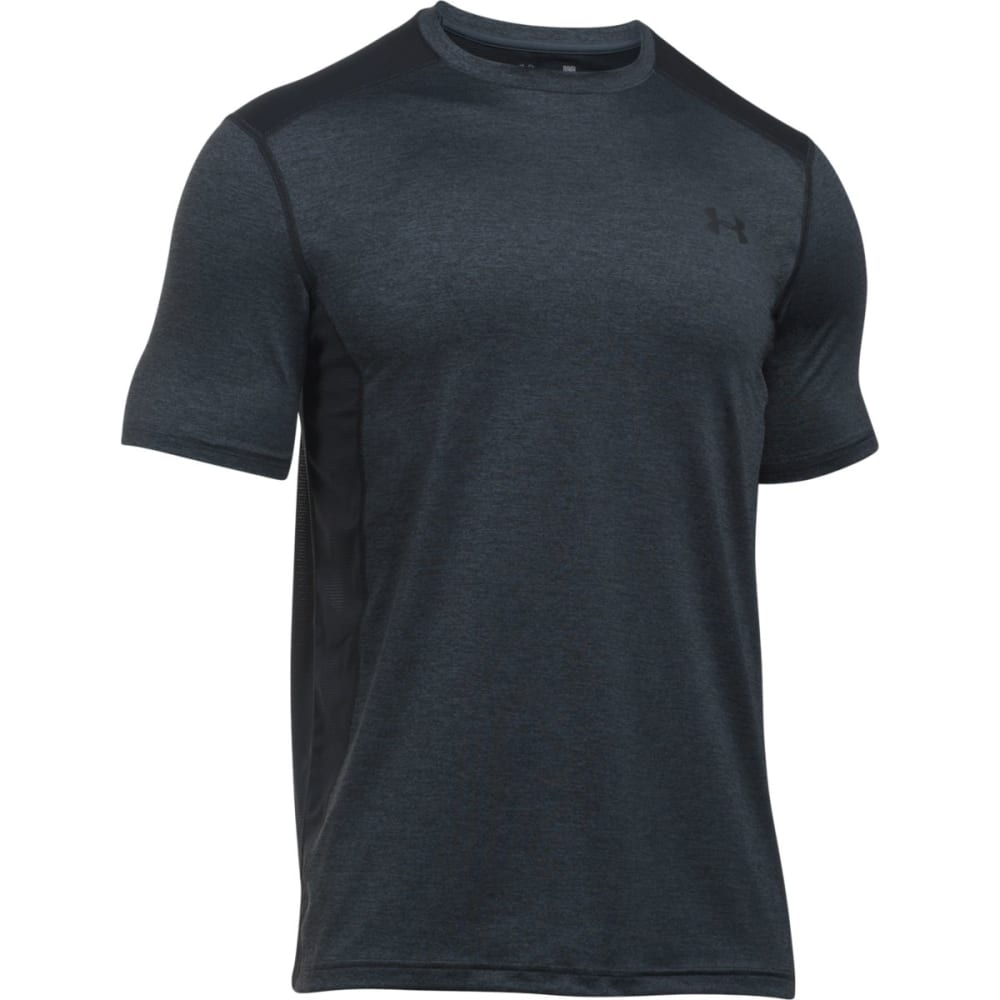 UNDER ARMOUR Men's Raid Twist Short-Sleeve Tee - STEALTH GRY/BLK-012