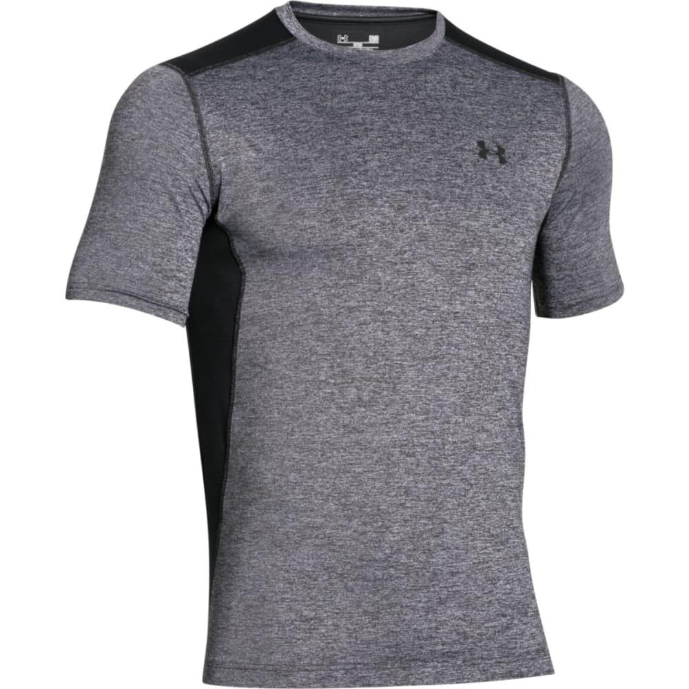 UNDER ARMOUR Men's Raid Twist Short-Sleeve Tee - WHITE/BLACK-102