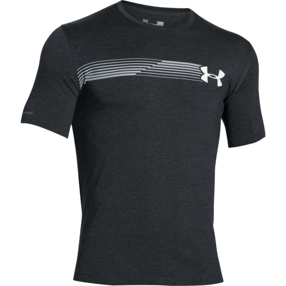 UNDER ARMOUR Men's Short Sleeve Fast Logo T-Shirt - BLACK/GOLD-001