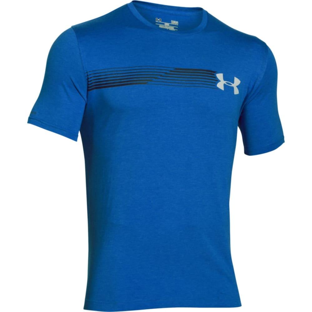 UNDER ARMOUR Men's Short Sleeve Fast Logo T-Shirt - ULTRA BLUE-907