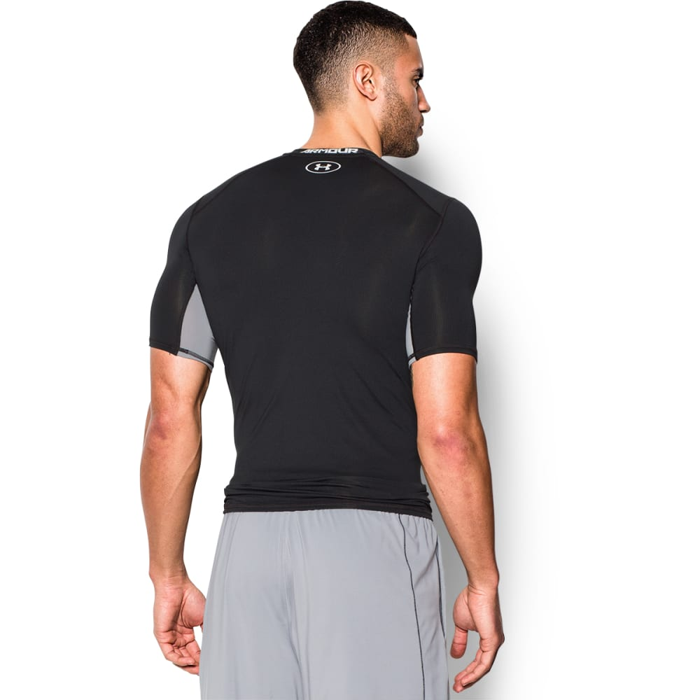 UNDER ARMOUR Men's CoolSwitch Compression T-Shirt - BLACK/STEEL-001