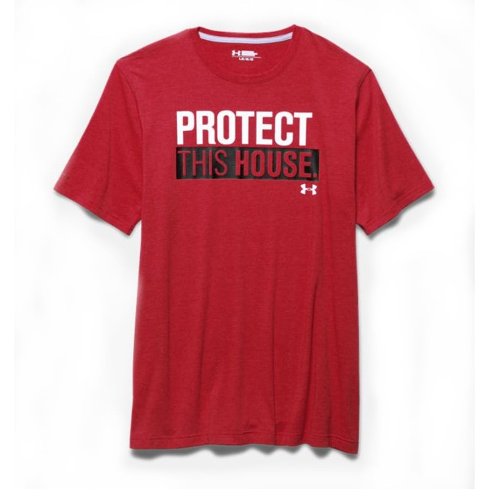 UNDER ARMOUR Men's Short Sleeve PTH® T-Shirt - RED/BLACK-603