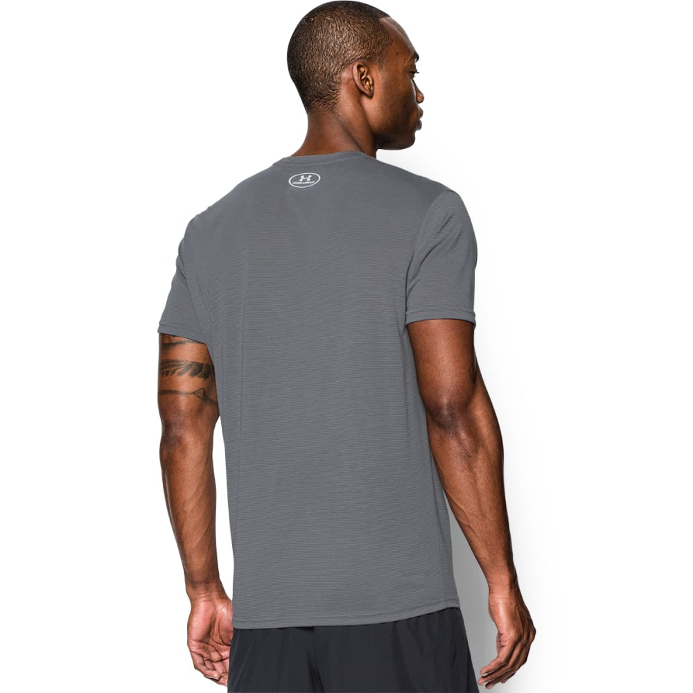 UNDER ARMOUR Men's Streaker Short Sleeve Tee - GRAPHITE/STEEL-040
