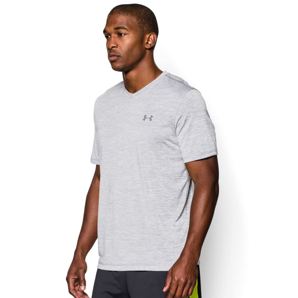 UNDER ARMOUR Men's Short Sleeve UA Tech™ V-Neck T-Shirt - STEEL-035
