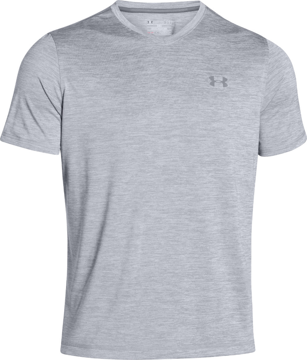 UNDER ARMOUR Men's Short Sleeve UA Tech V-Neck T-Shirt - STEEL-035