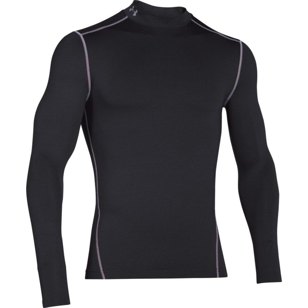 UNDER ARMOUR Men's ColdGear® Armour Compression Mock - BLACK/STEEL-001