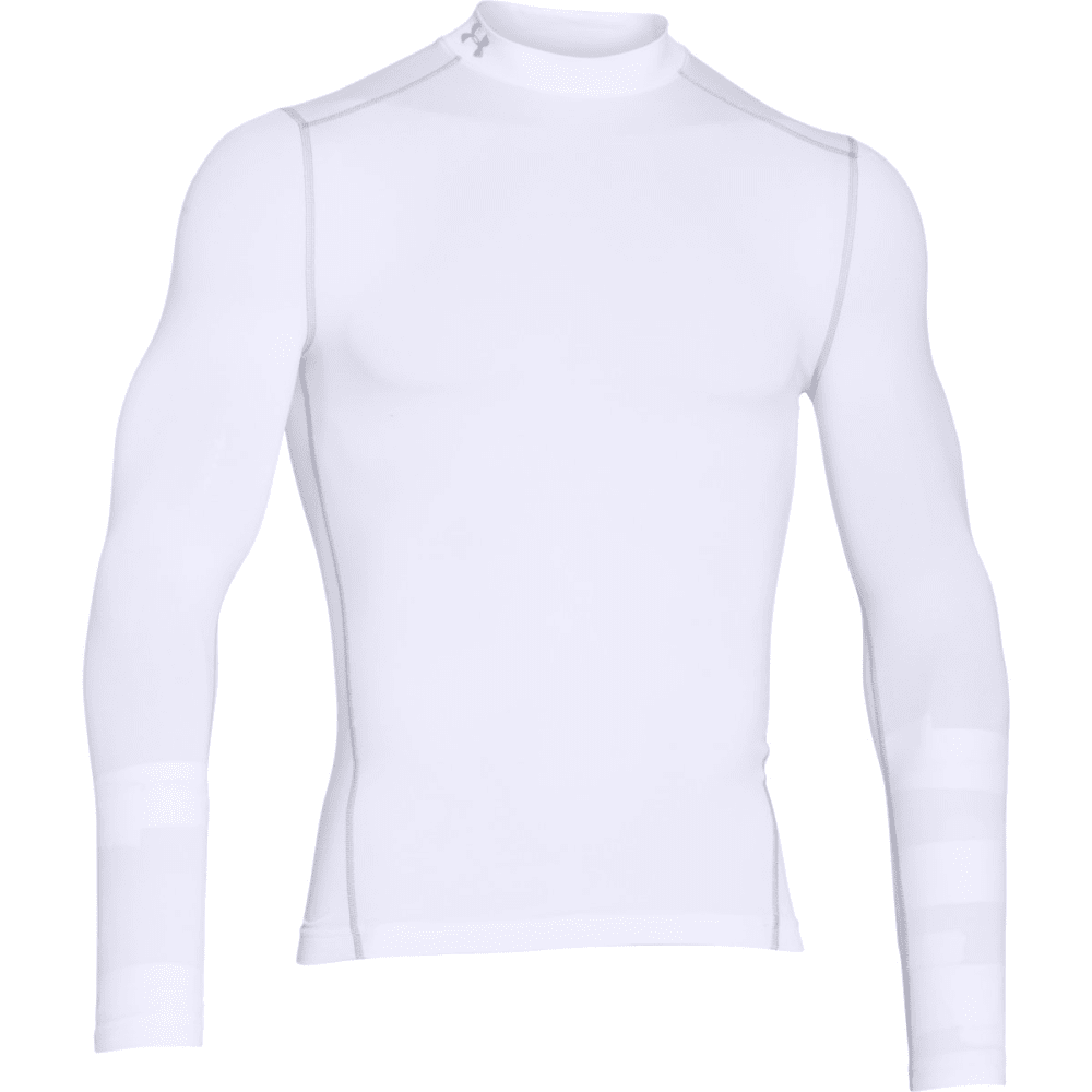 UNDER ARMOUR Men's ColdGear® Armour Compression Mock - WHITE/STEEL-100