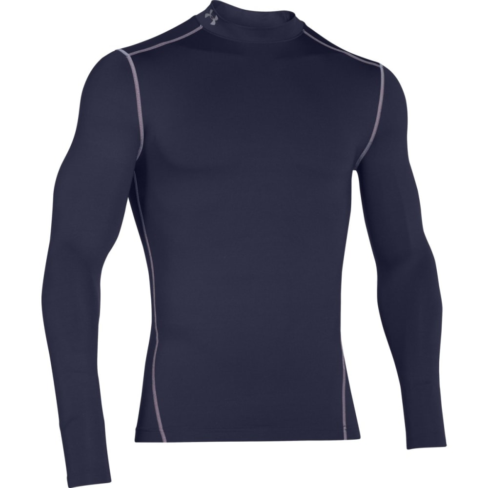 UNDER ARMOUR Men's ColdGear® Armour Compression Mock - MIDNIGHT/STEEL-410