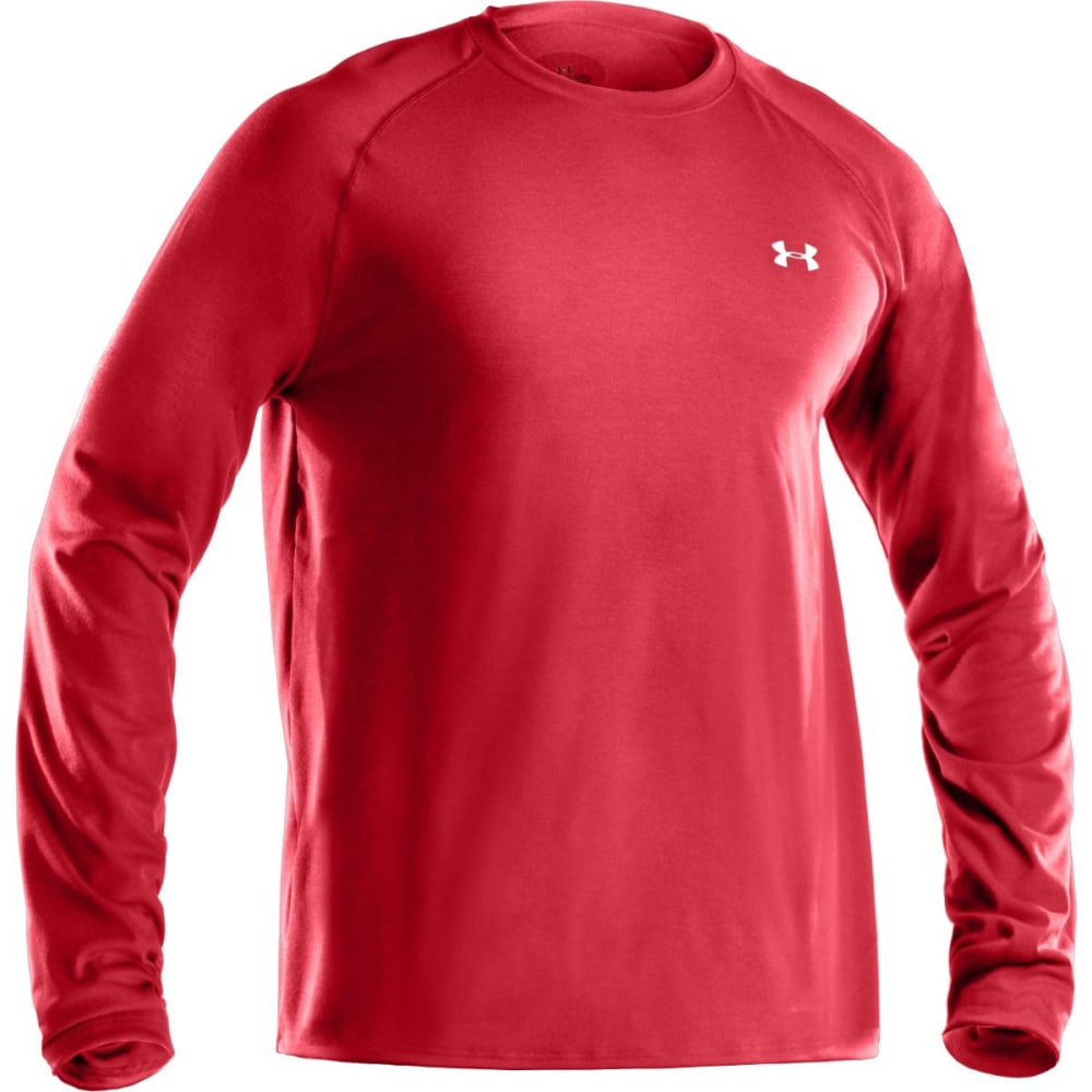 UNDER ARMOUR Men's Tech™ Long Sleeve T-Shirt - RED/STEEL-600