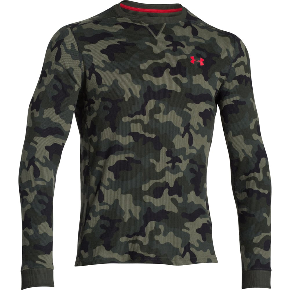 Under Armour Men's UA Amplify LS Thermal Top - ROUGH/RED-334