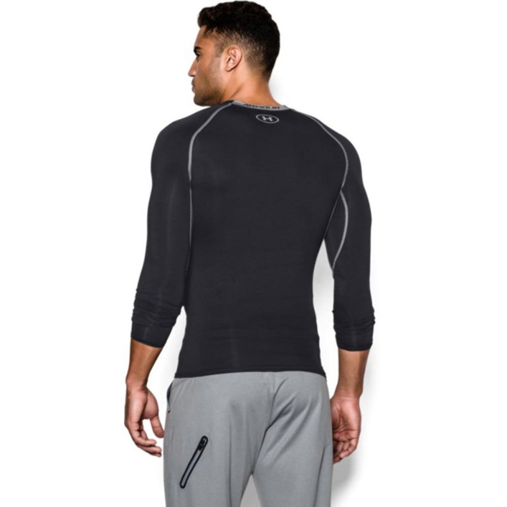 UNDER ARMOUR Men's HeatGear® Armour Long Sleeve Shirt - BLACK/STEEL-001