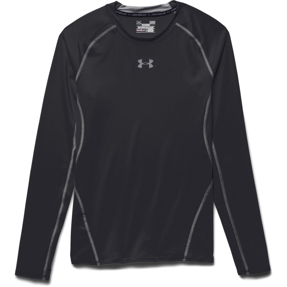 UNDER ARMOUR Men's HeatGear® Armour Long Sleeve Shirt - BLACK/STEEL-001