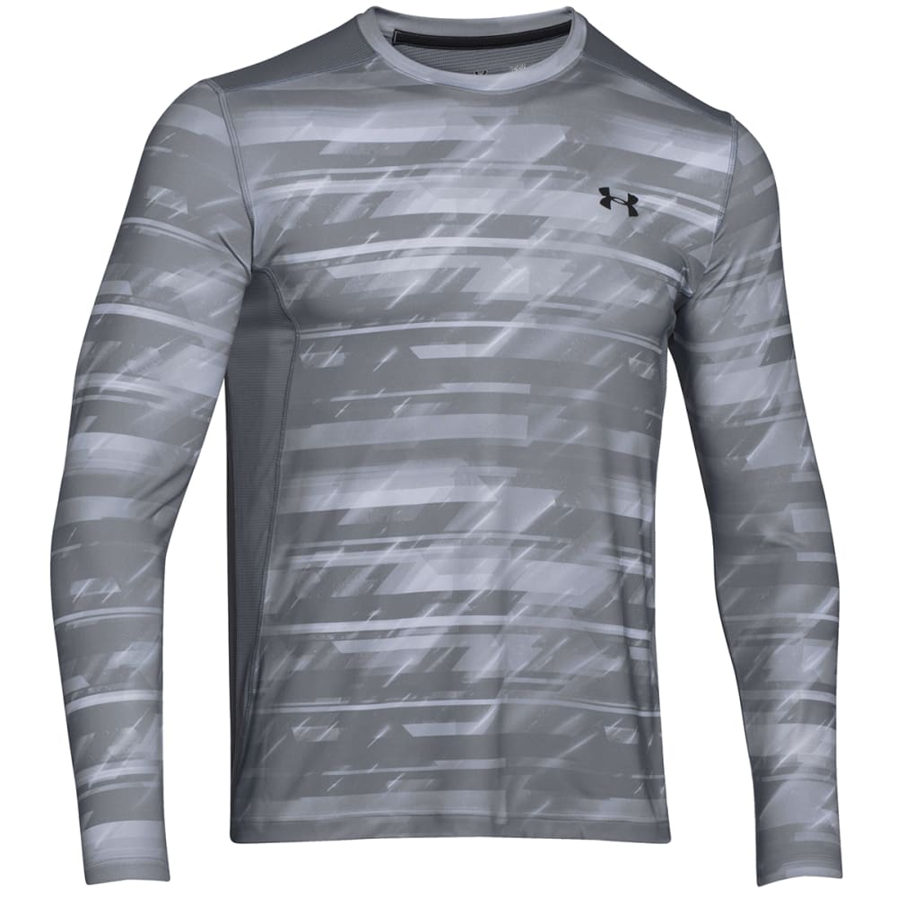 UNDER ARMOUR Men's Raid Long Sleeve Tee - WHITE PRINT-101