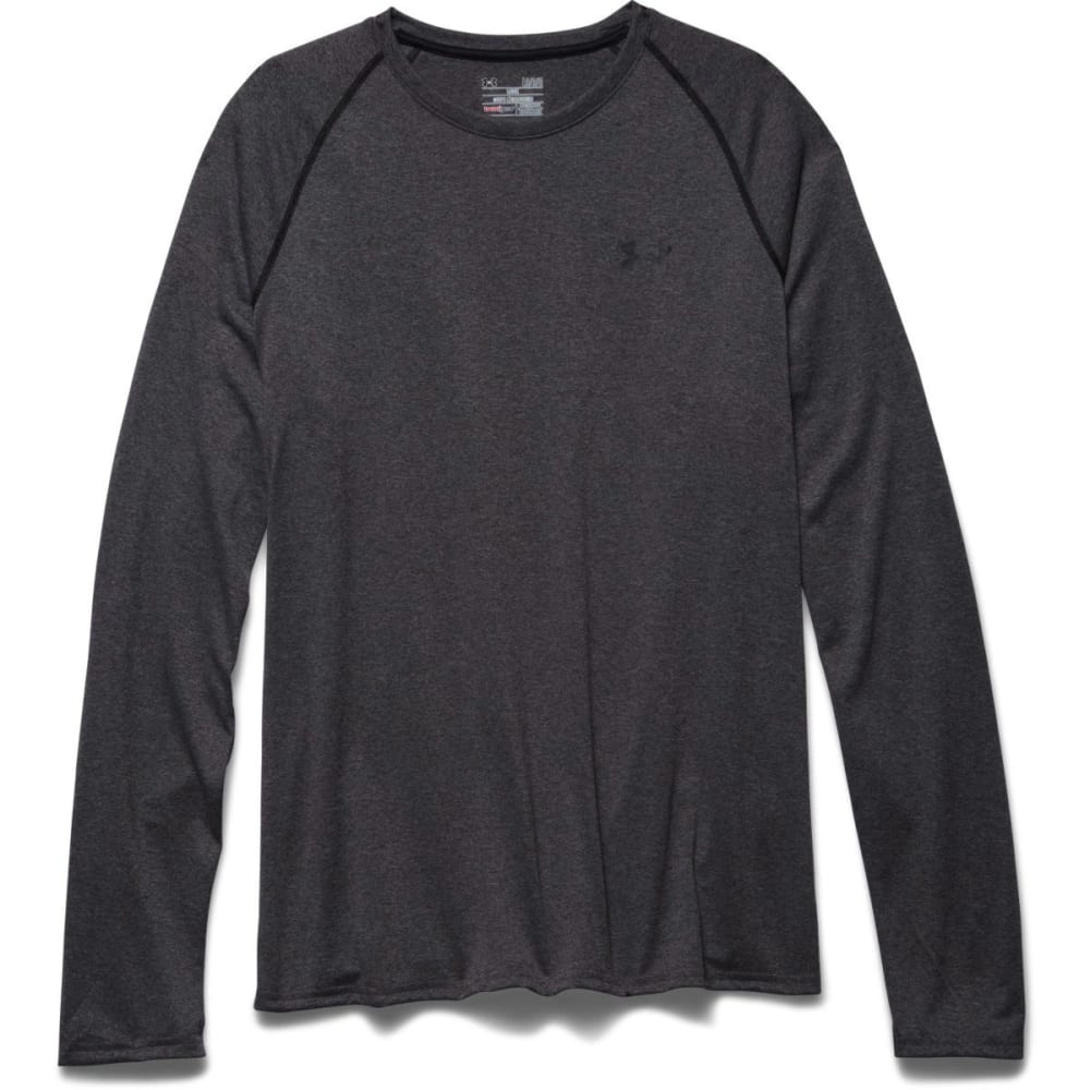 UNDER ARMOUR Men's UA Tech Long Sleeve Shirt - CARBON HEATHER-090