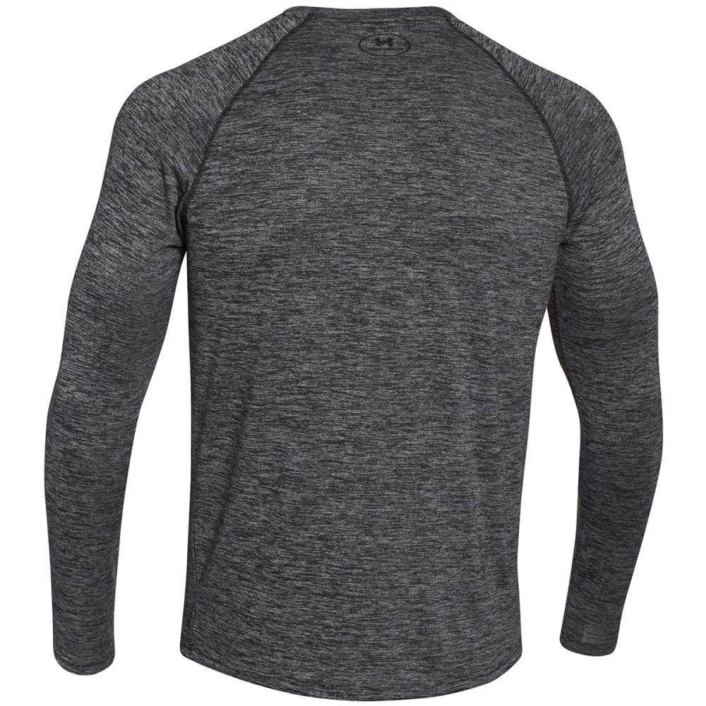 UNDER ARMOUR Men's Tech Patterned Long Sleeve T-Shirt - BLACK-001