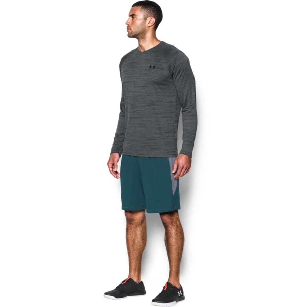 UNDER ARMOUR Men's Tech™ Patterned Long Sleeve T-Shirt - BLK/BLK TWIST-003