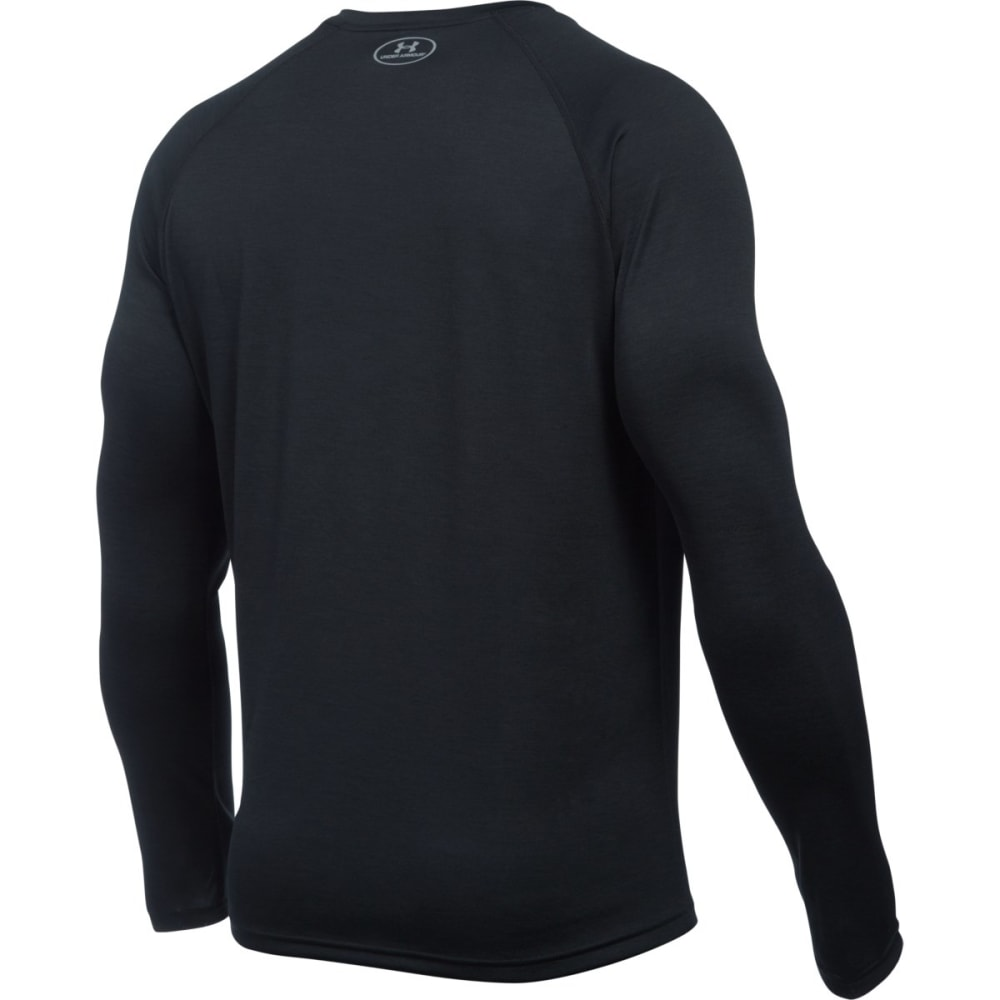 UNDER ARMOUR Men's Tech™ Patterned Long Sleeve T-Shirt - BLACK/STEEL-002