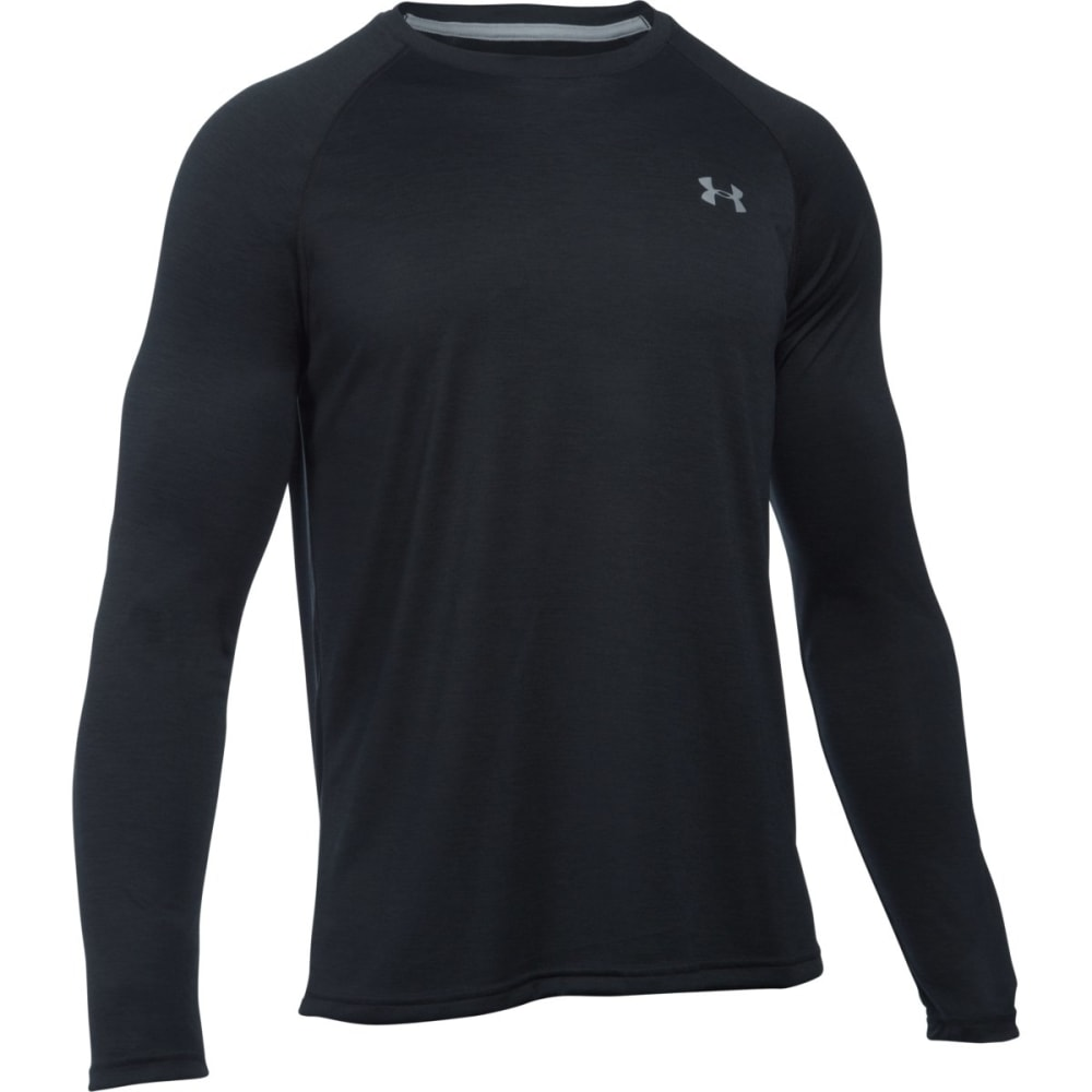 UNDER ARMOUR Men's Tech™ Patterned Long Sleeve T-Shirt - BLACK/STEEL-002