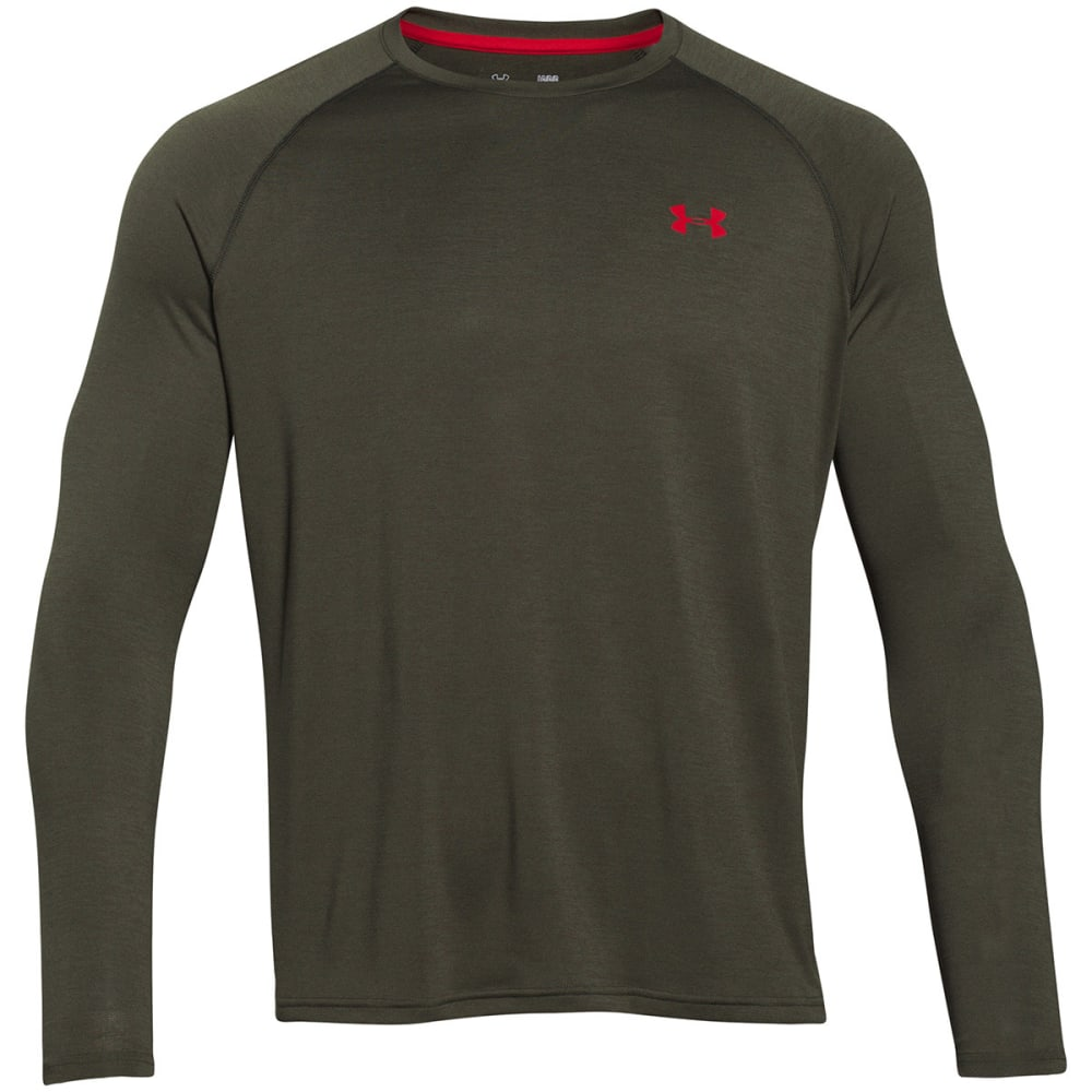 UNDER ARMOUR Men's Tech™ Patterned Long Sleeve T-Shirt - ARTILLERY GREEN-357