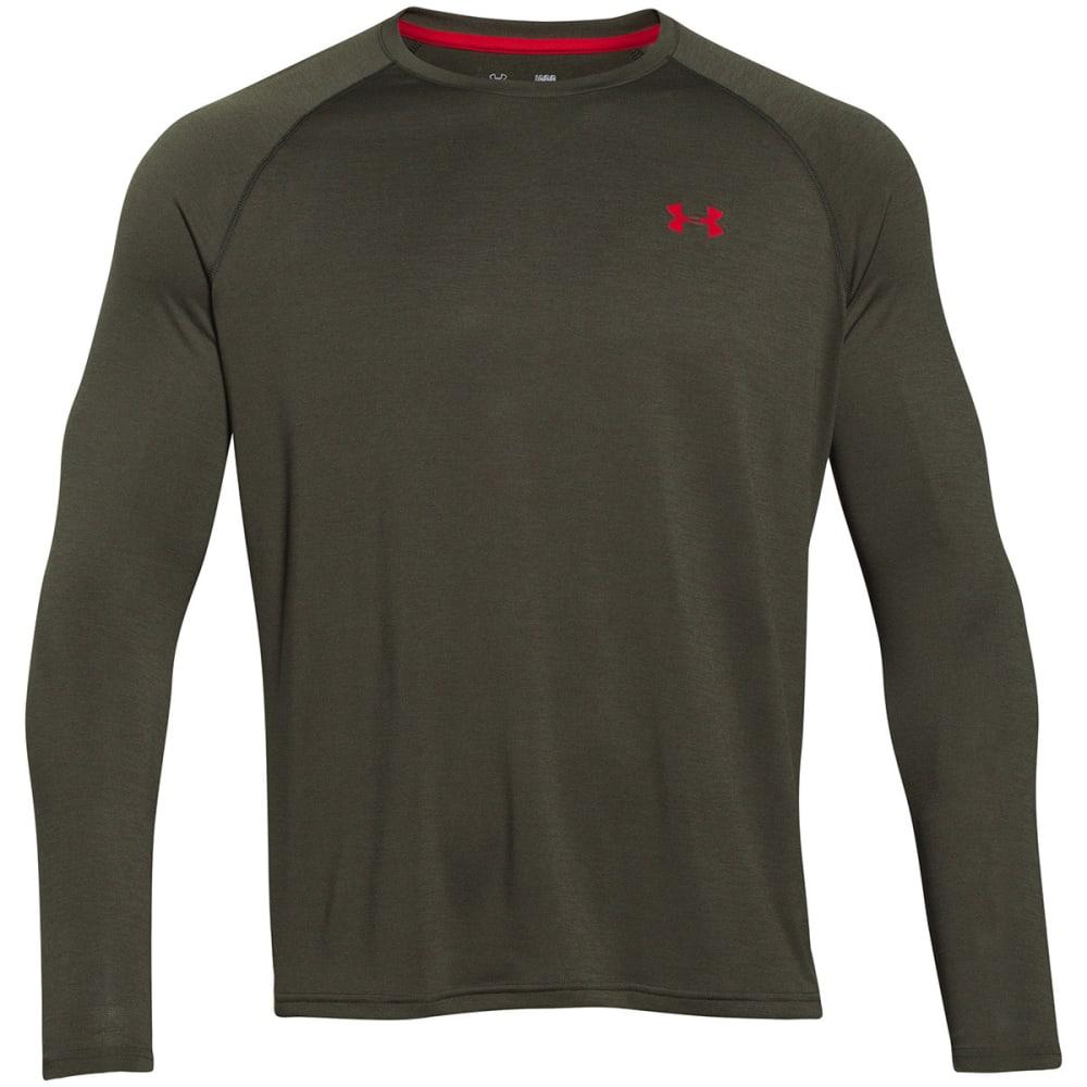 UNDER ARMOUR Men's Tech™ Patterned Long Sleeve T-Shirt - ARTILLERY GREEN-357