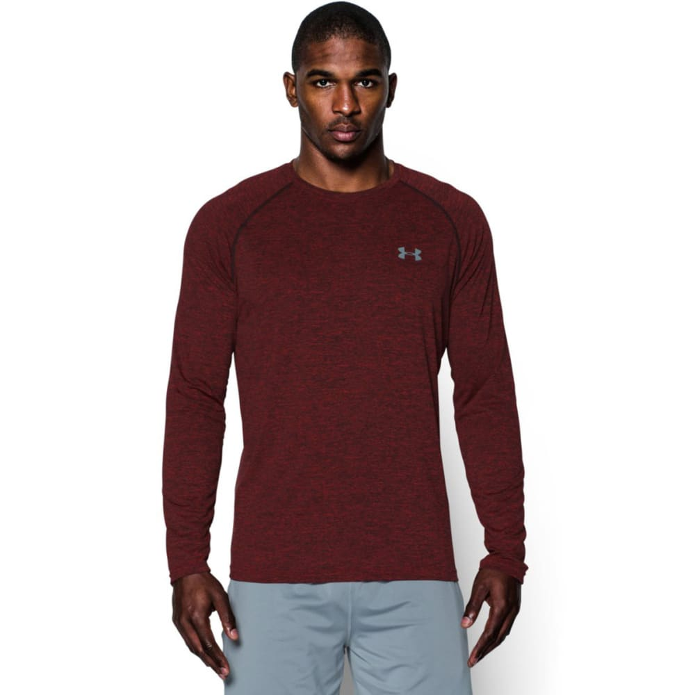 UNDER ARMOUR Men's Tech™ Patterned Long Sleeve T-Shirt - RED-600