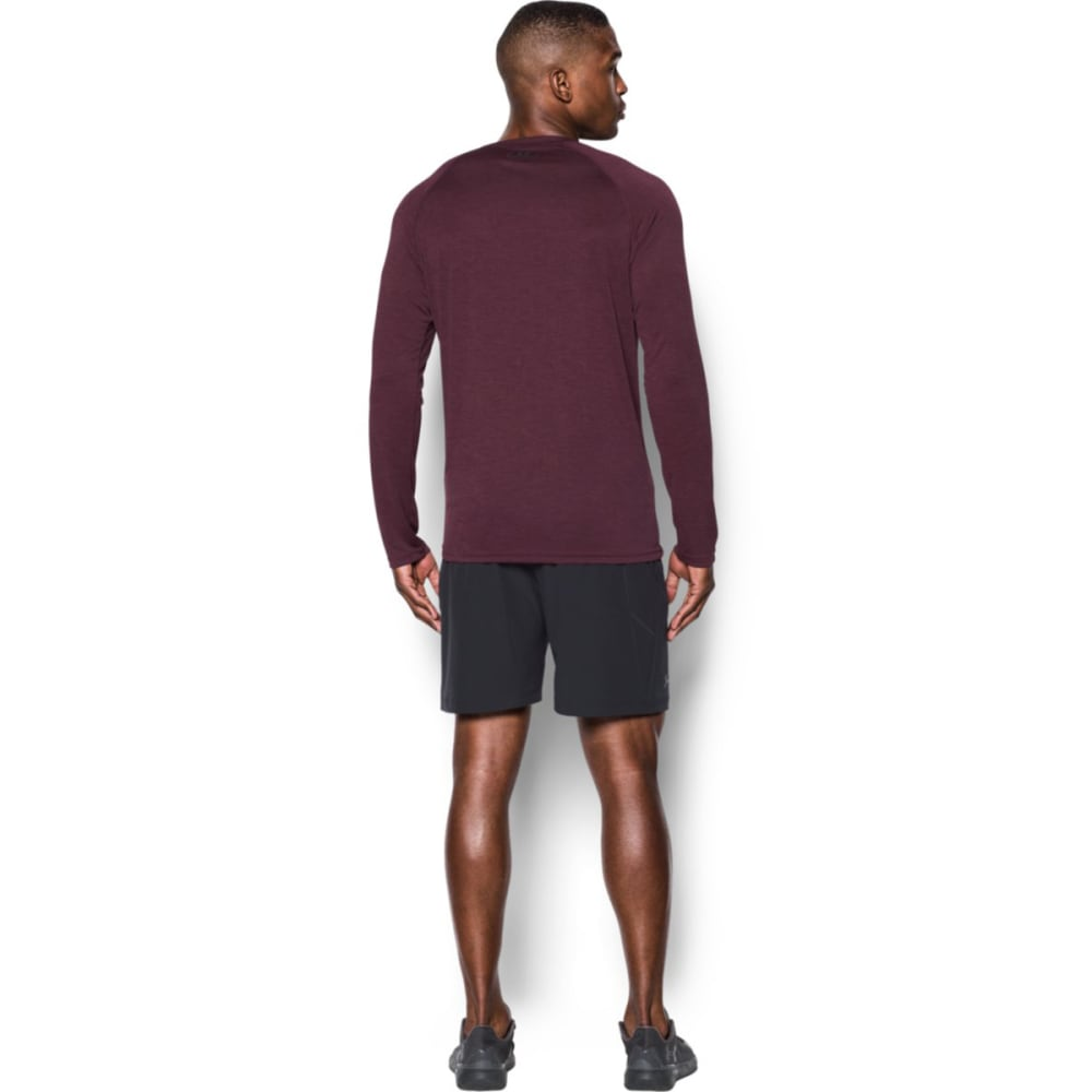 UNDER ARMOUR Men's Tech Patterned Long Sleeve T-Shirt - RAISIN/STLTH-916