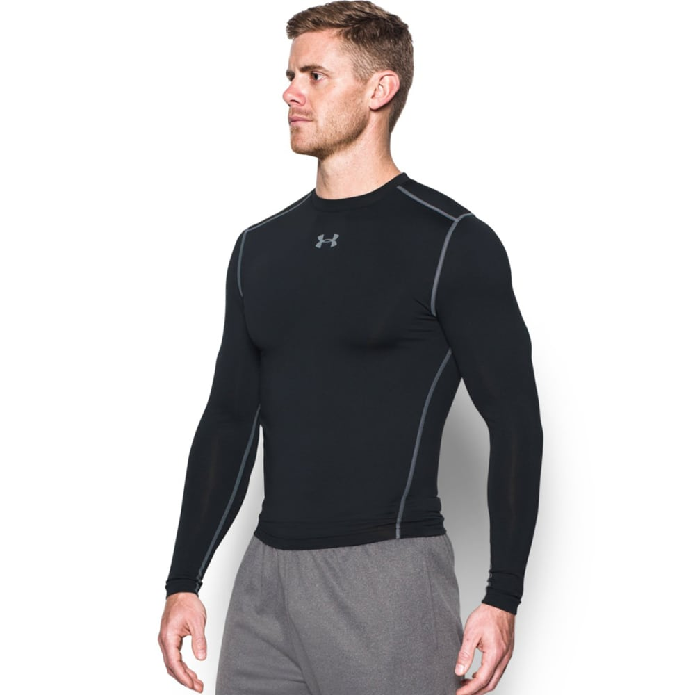 UNDER ARMOUR Men's ColdGear® Armour Compression Crew - BLACK/STEEL-001
