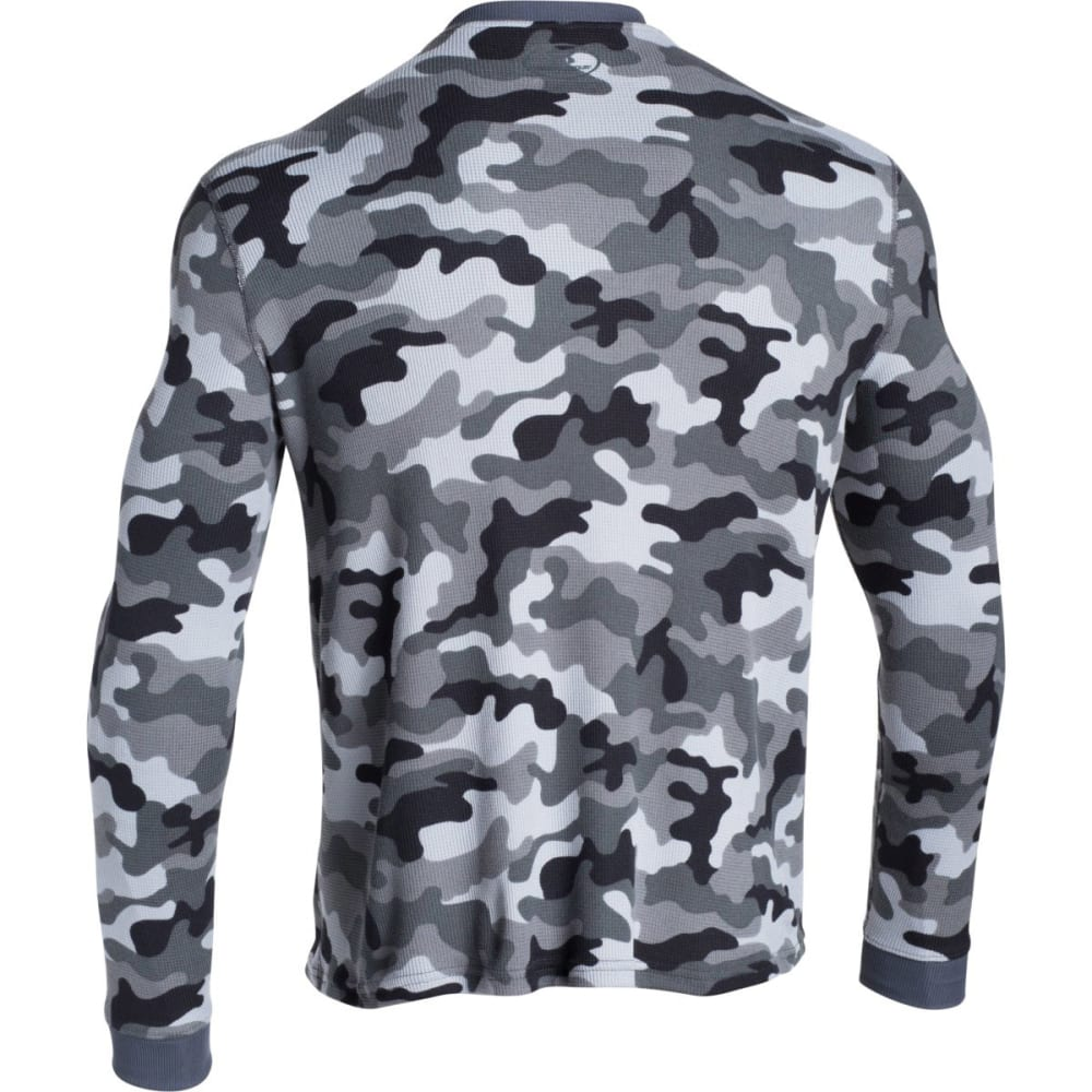 UNDER ARMOUR Men's Amplify Camo Thermal Crew Shirt - STEEL