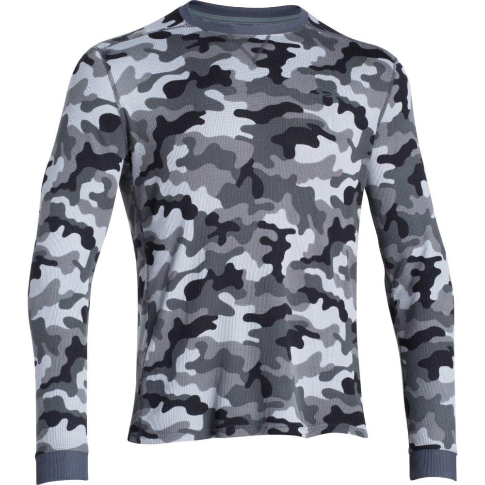 UNDER ARMOUR Men's Amplify Camo Thermal Crew Shirt - STEEL