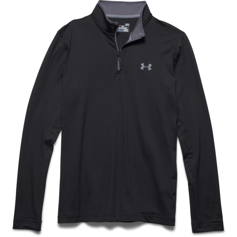 UNDER ARMOUR Men's ColdGear® Infrared Lightweight ¼ Zip - BLACK/GRAPHITE