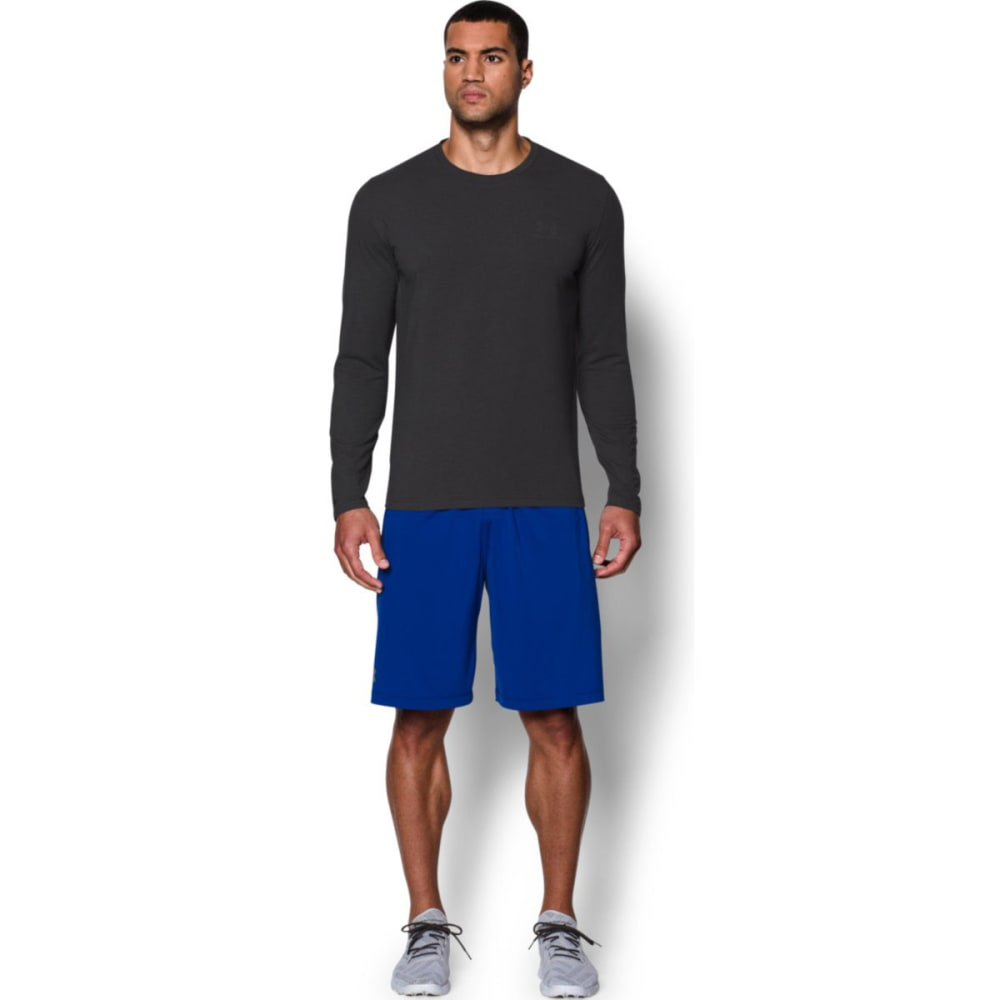 UNDER ARMOUR Men's Charged Cotton® Long Sleeve T-Shirt - CARBON HEATHER-090