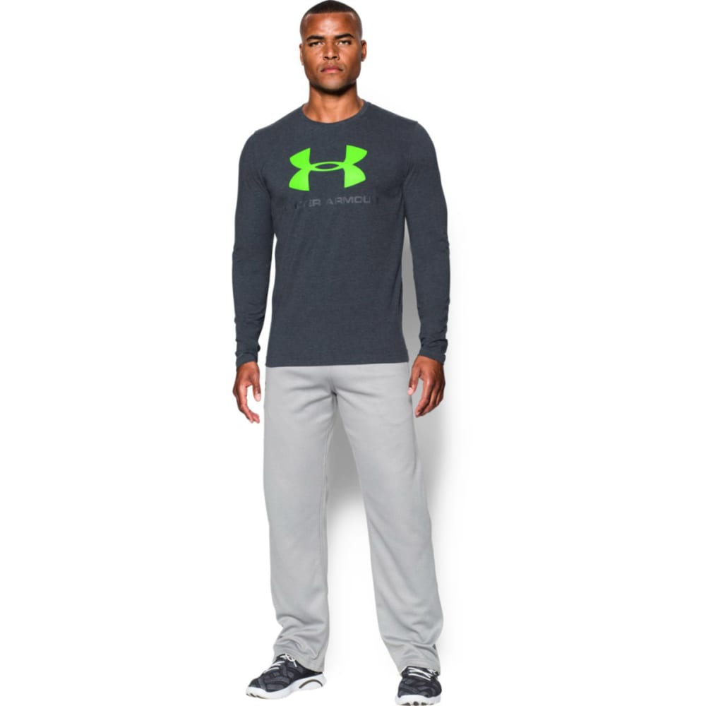 UNDER ARMOUR Men's UA Sport Style Long Sleeve T-Shirt - BLACK/STEALTH-002