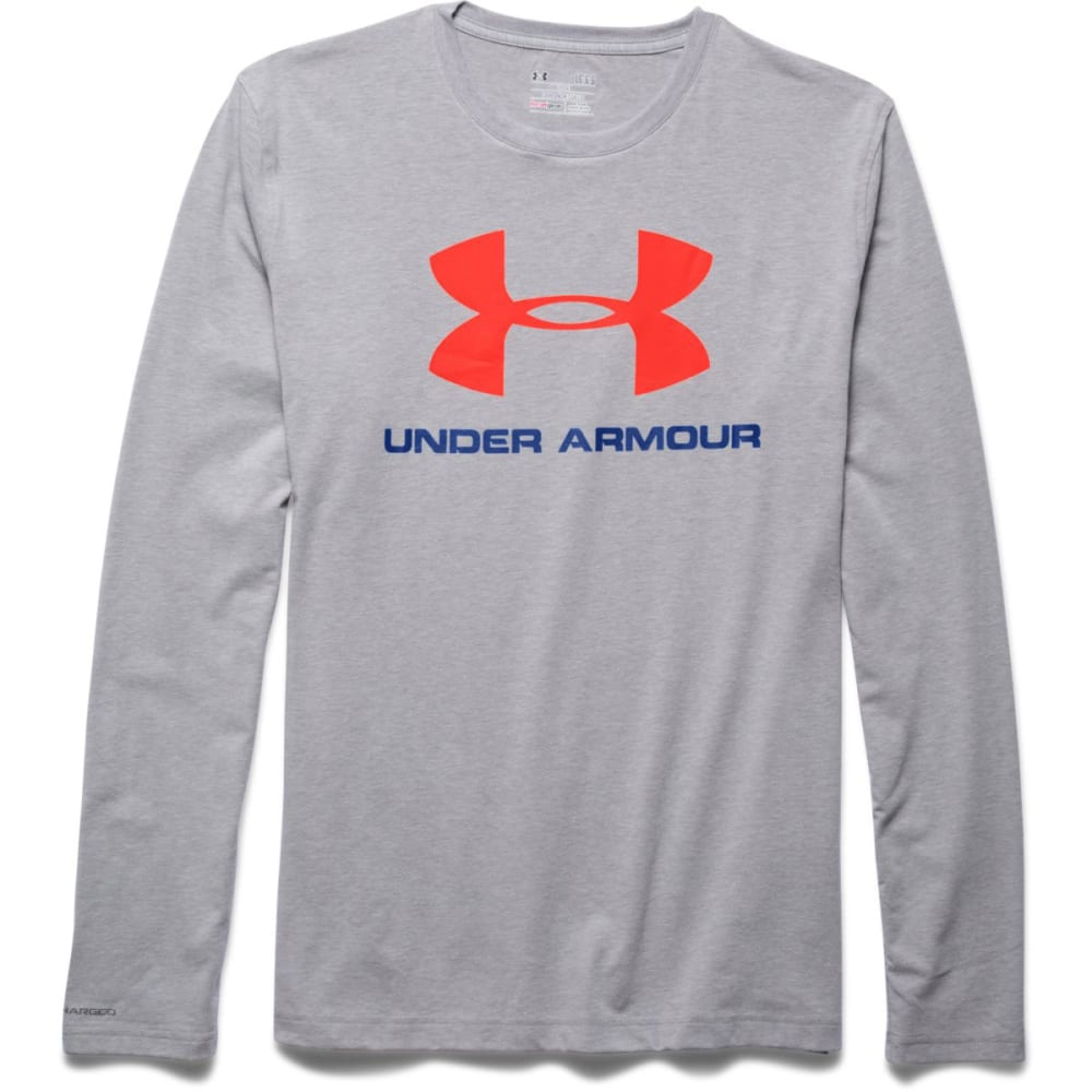 UNDER ARMOUR Men's UA Sport Style Long Sleeve T-Shirt - TRUE GREY HTHR-025