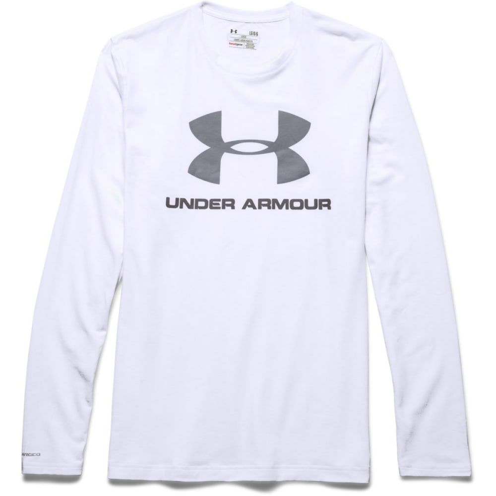 UNDER ARMOUR Men's UA Sport Style Long Sleeve T-Shirt - WHITE/STEEL-100
