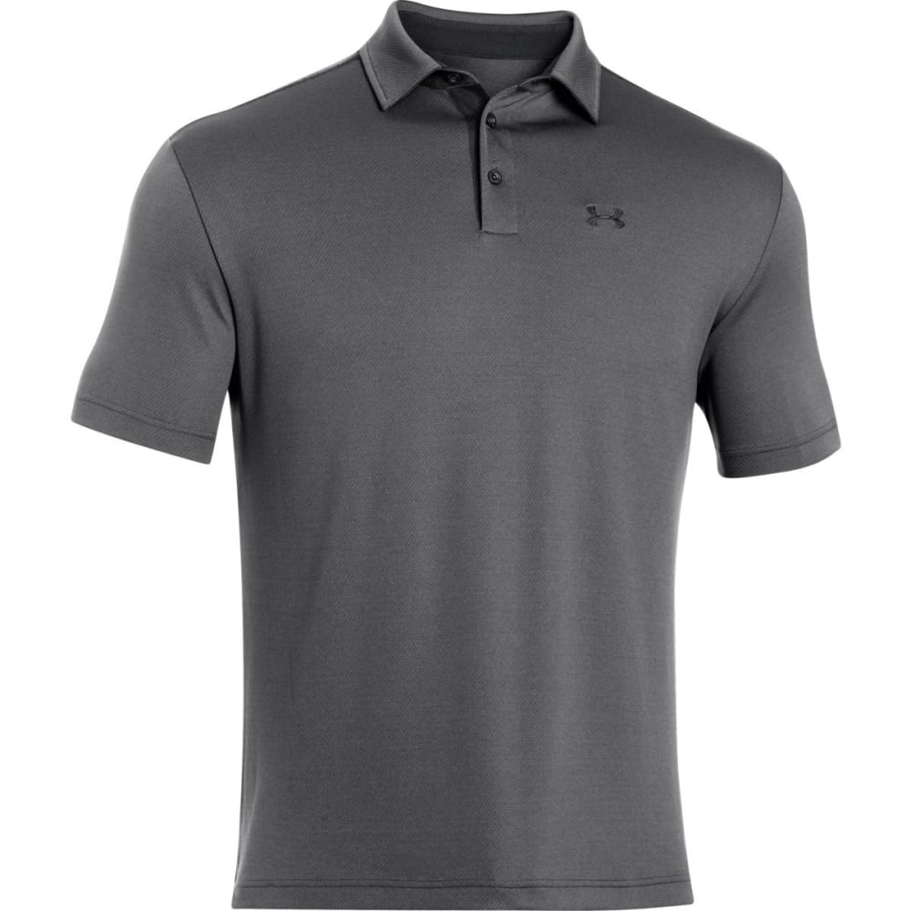 UNDER ARMOUR Men's Leaderboard Polo Shirt - GRAPHITE-040