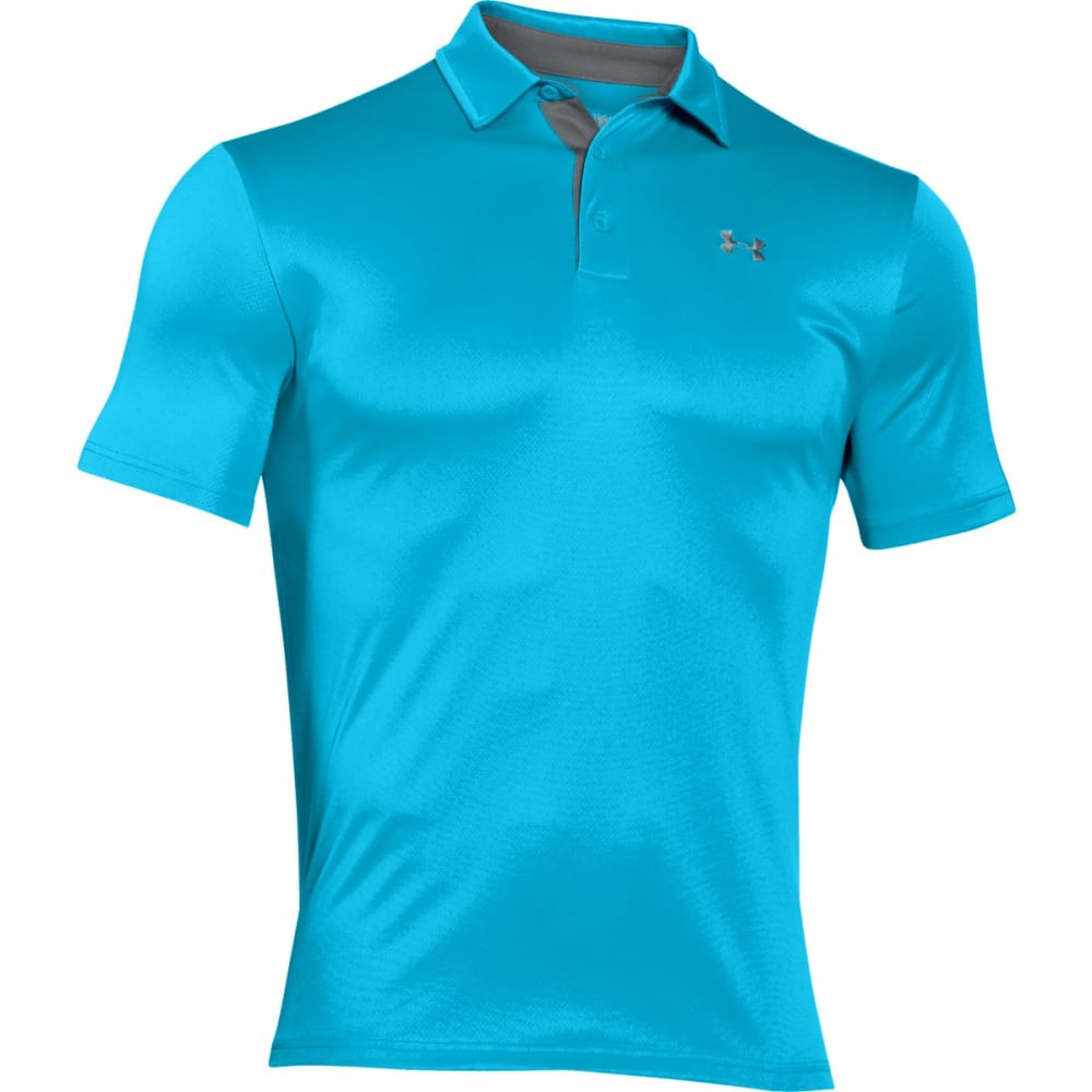 UNDER ARMOUR Men's Leaderboard Polo Shirt - MERIDIAN BLUE-987