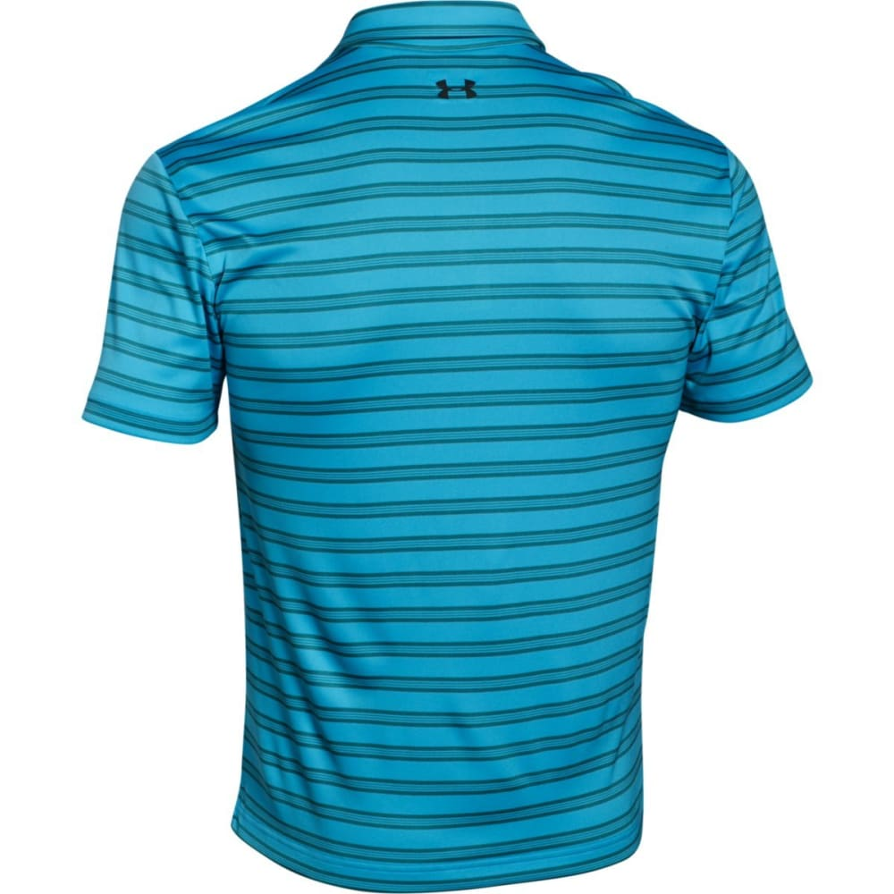 UNDER ARMOUR Men's Tech Stripe Polo - MERIDIAN BLUE-987