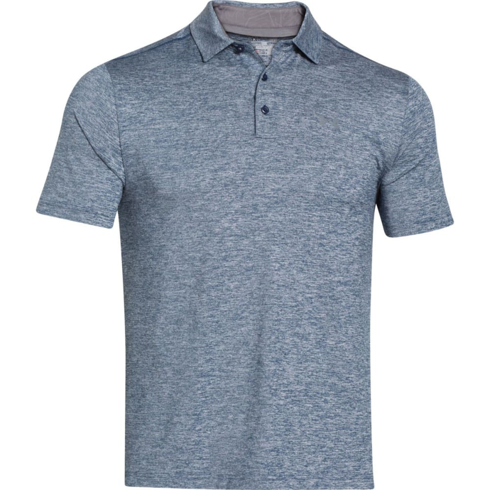 UNDER ARMOUR Men's Playoff Polo - ACADEMY HEATHER-409