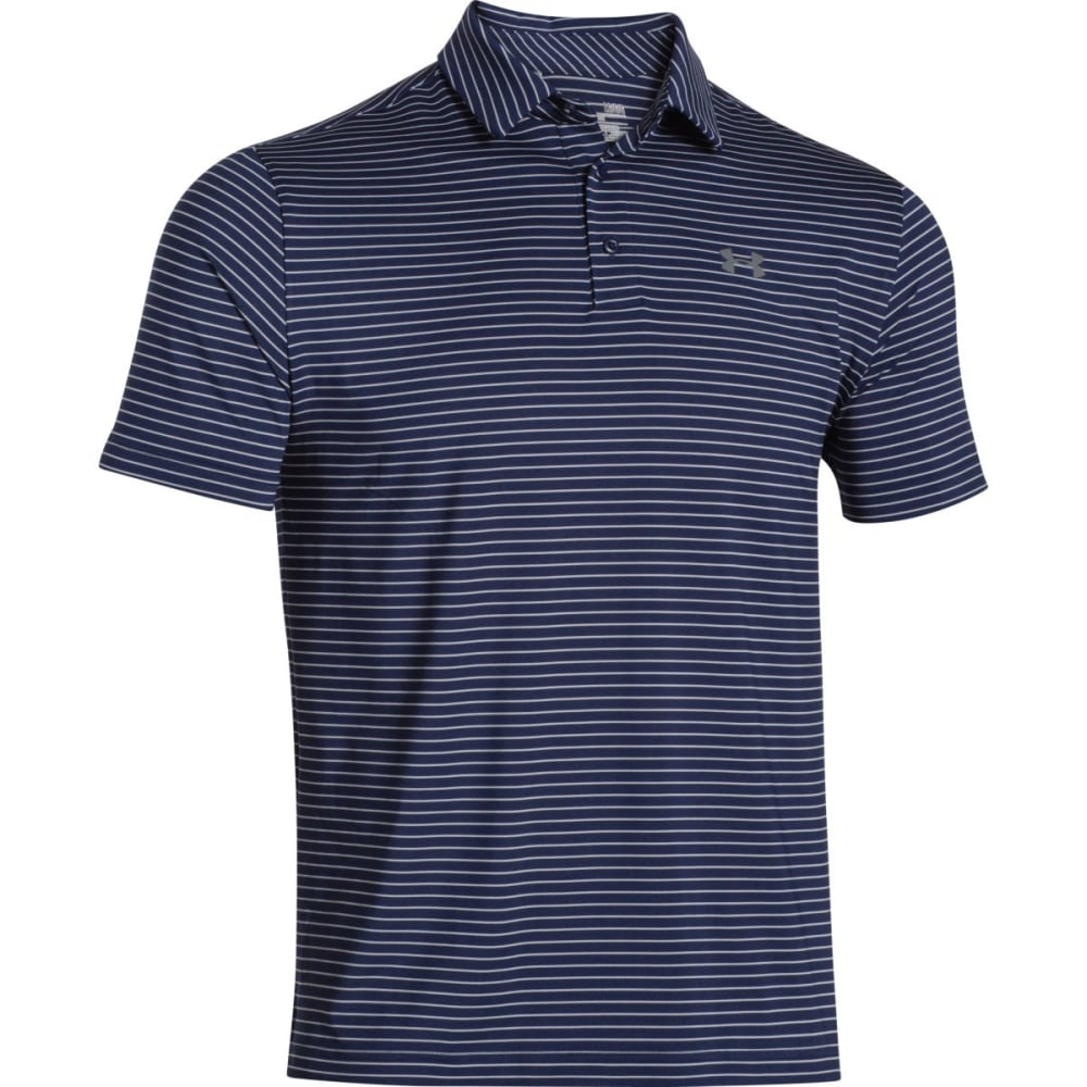 UNDER ARMOUR Men's Playoff Polo - ACADEMY/GRAPHITE-410