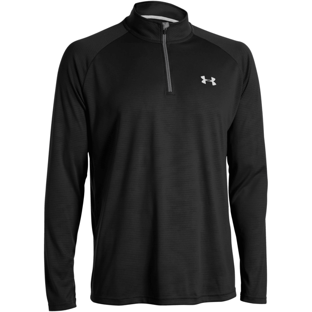 UNDER ARMOUR Men's Tech 1/4 Zip - BLK/WHT TWIST-003