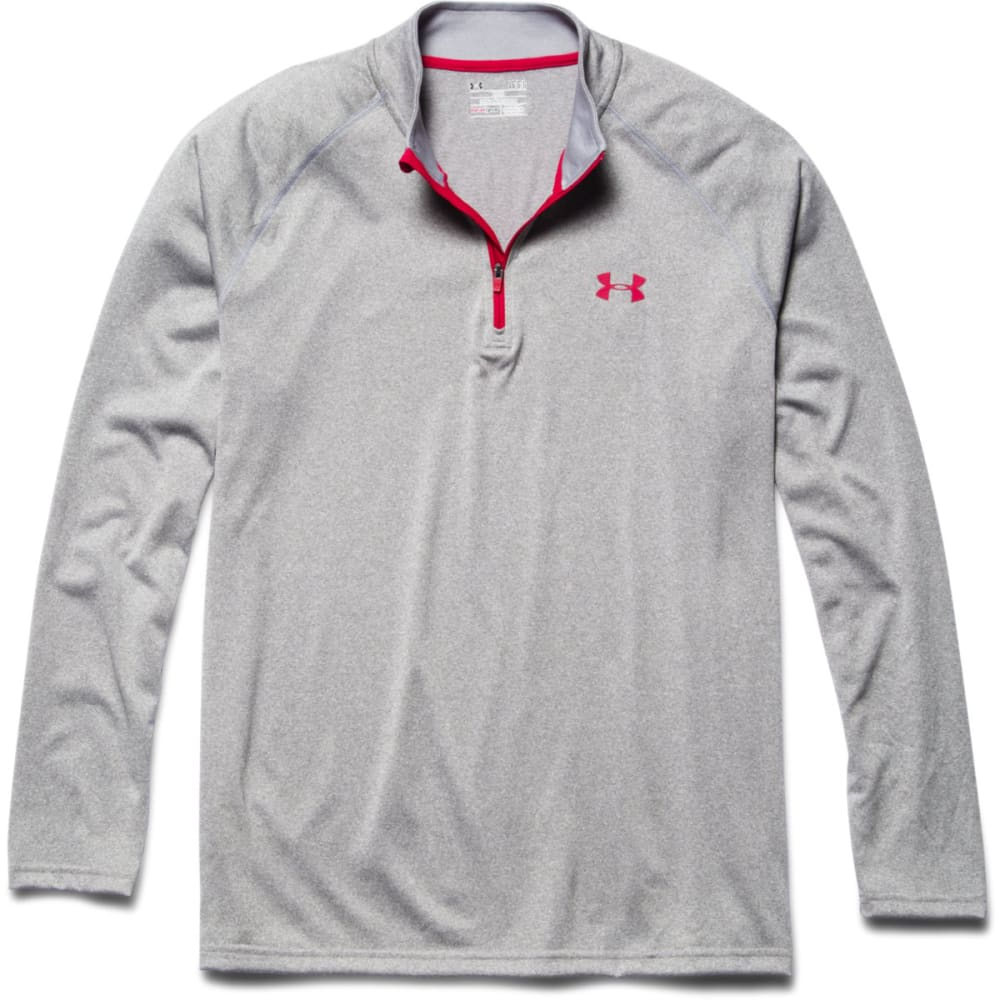 UNDER ARMOUR Men's Tech 1/4 Zip - TRUE GRAY HTHR-026