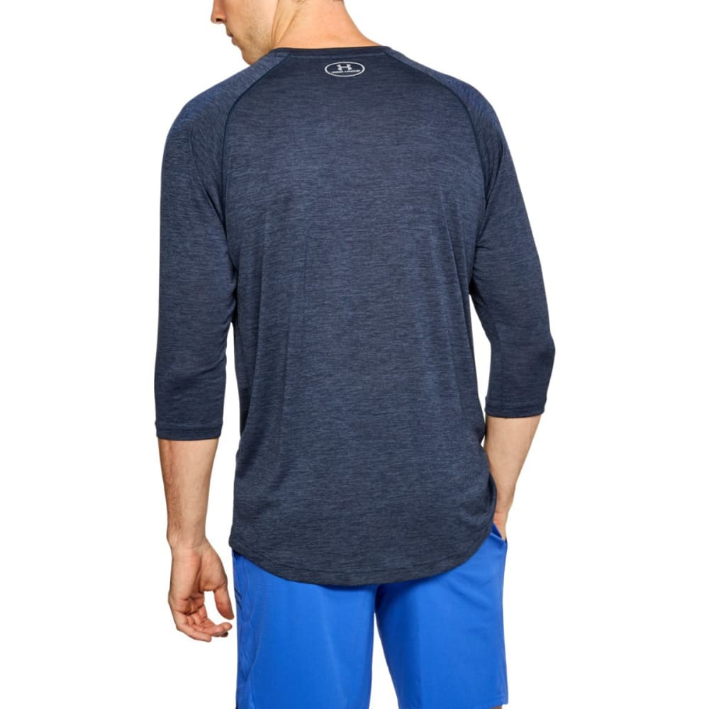 UNDER ARMOUR Men's 3/4 Length Raglan Sleeve Tee - ACADEMY/STL-409