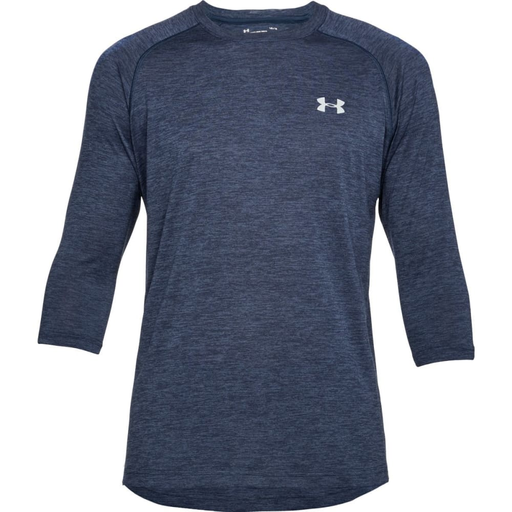 "UNDER ARMOUR Men's UA Tech""¢ ¾-Length Raglan Sleeve Tee - ACADEMY/STL-409"
