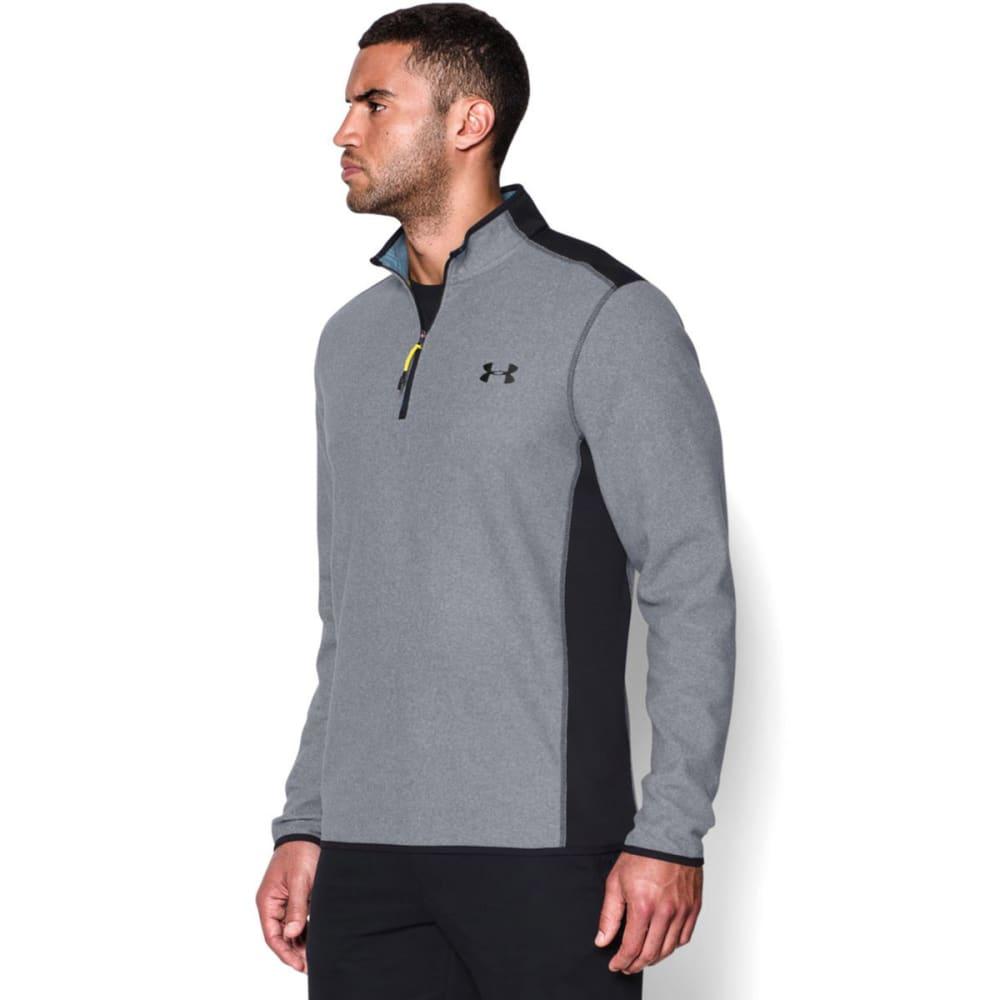 UNDER ARMOUR Men's ColdGear Infrared Performance Fleece ¼ Zip Jacket - STEEL/BLACK-035