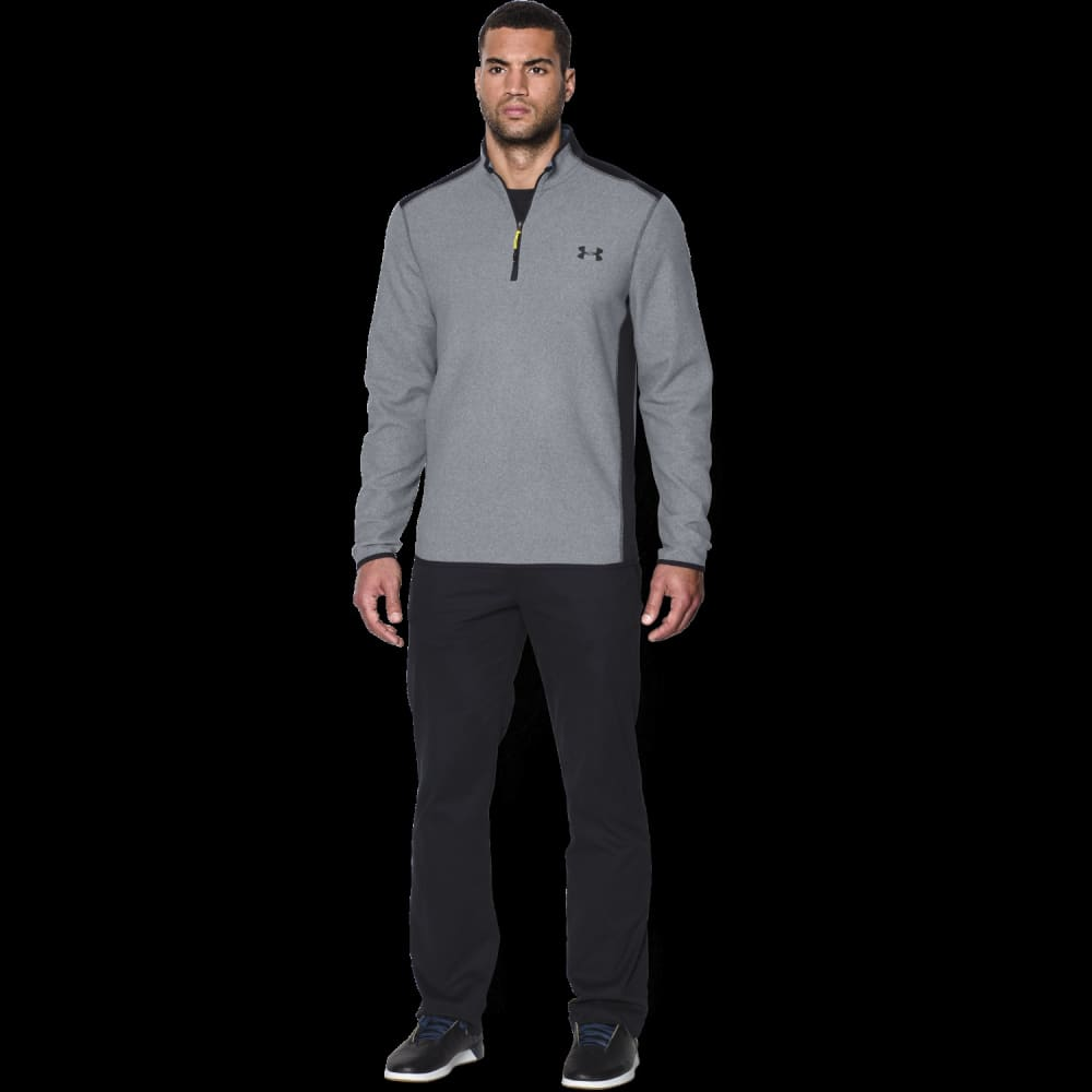 UNDER ARMOUR Men's ColdGear® Infrared Performance Fleece ¼ Zip Jacket - STEEL/BLACK-035